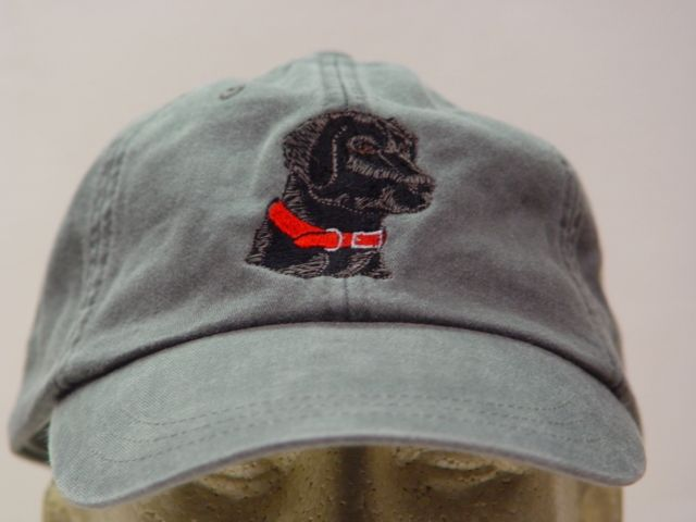Embroidered Black Lab Hat by Price Embroidery and Apparel  ab4a761693d