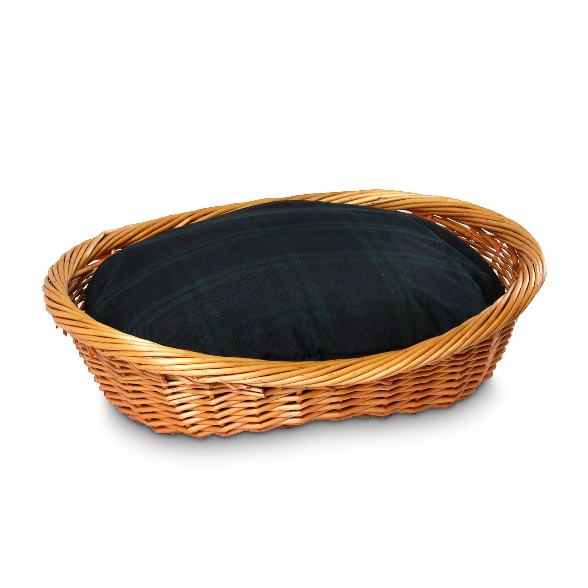 Luxury Wicker Dog Basket and Bed DogBedsDecor