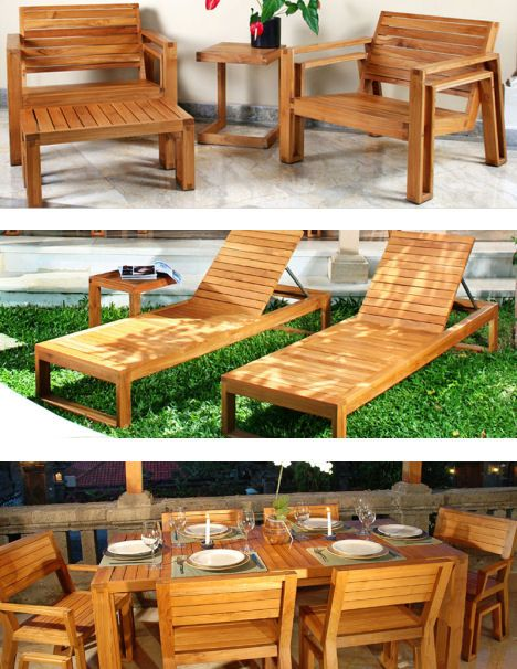 The Lounge chair - Outdoor Wood Furniture By Maku - The Patio Teak Furniture
