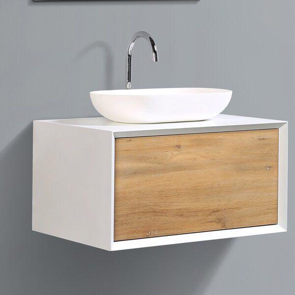Grissett 30 Wall Mounted Single Bathroom Vanity Set In 2020