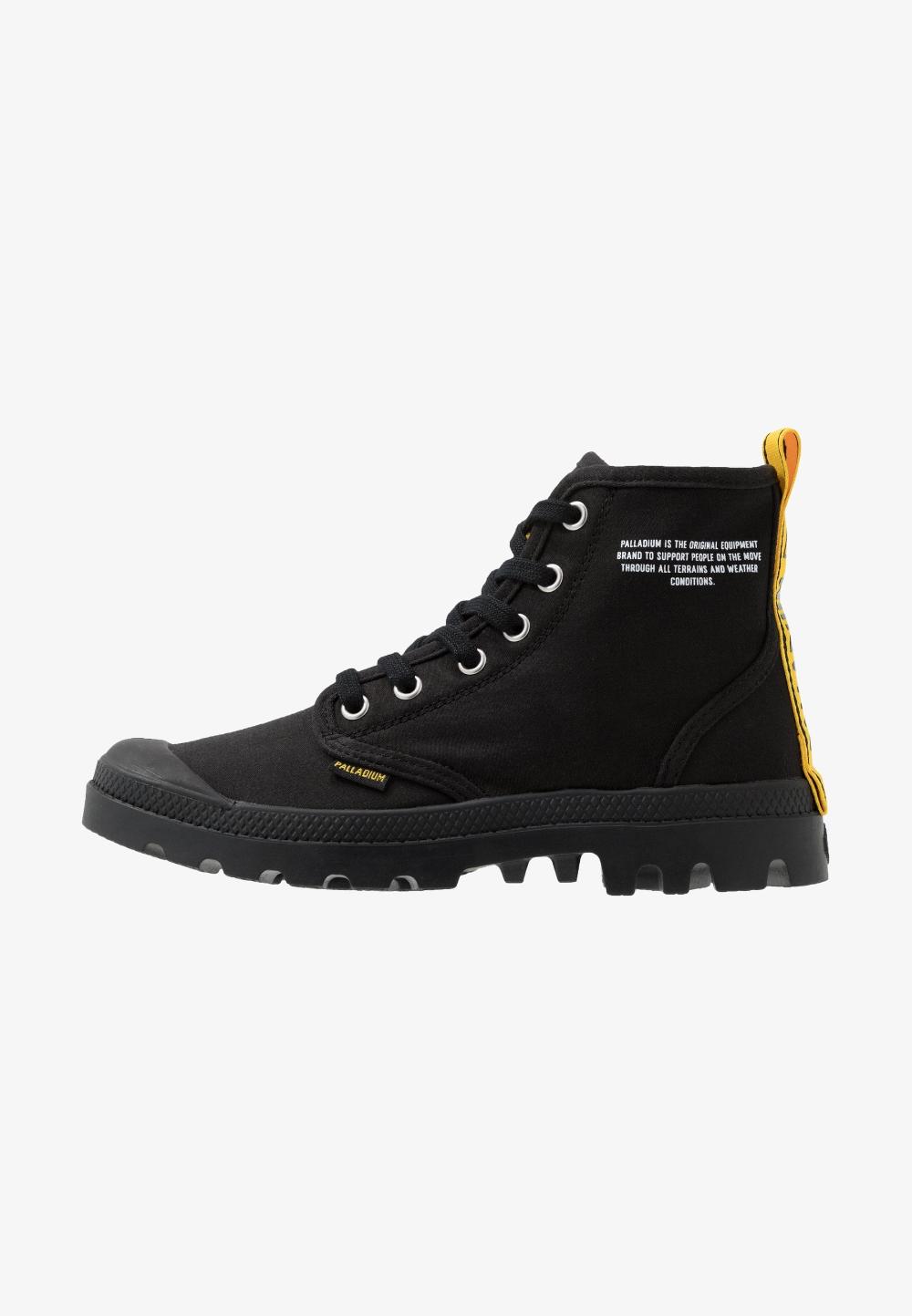 Palladium Pampa Dare Safety Botki Sznurowane Black Zalando Pl Boots Black Hiking Boots