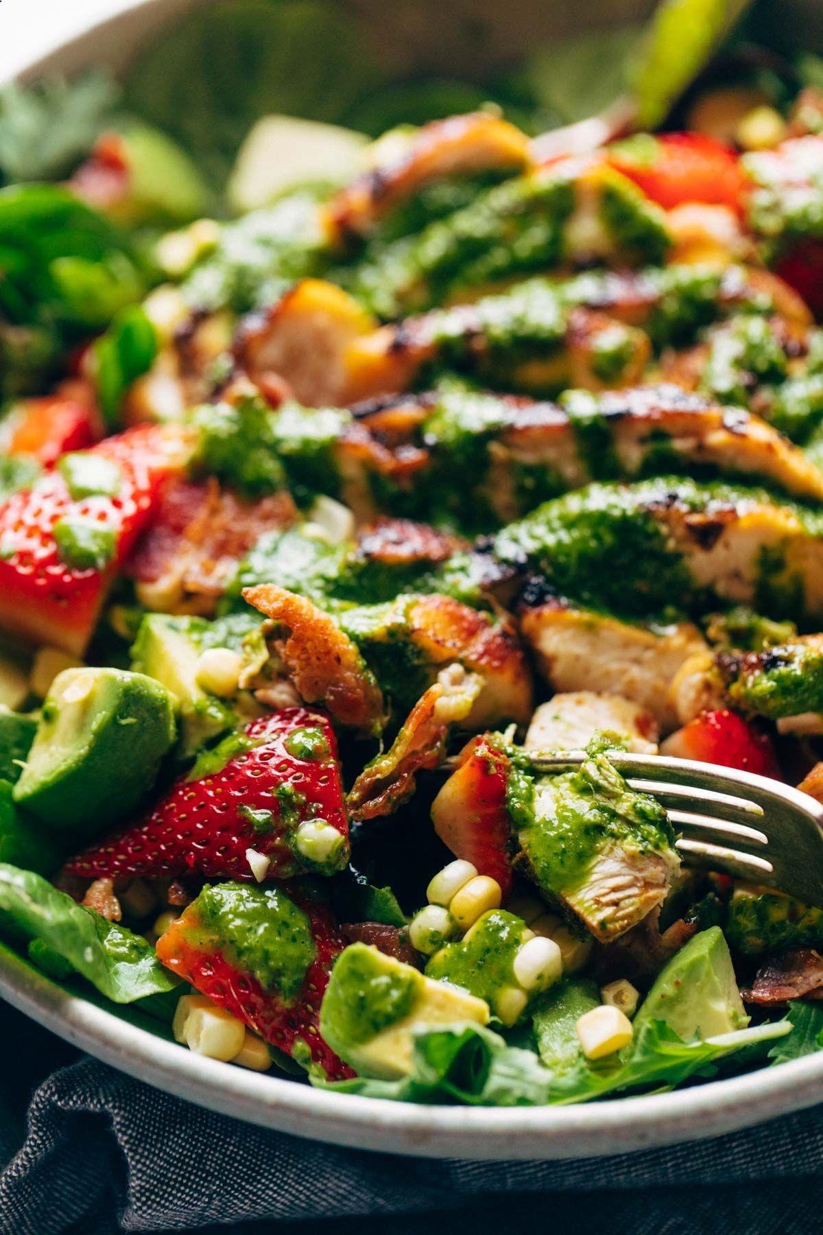 Summer Chipotle Chicken Cobb Salad With Cilantro Vinaigrette Recipe