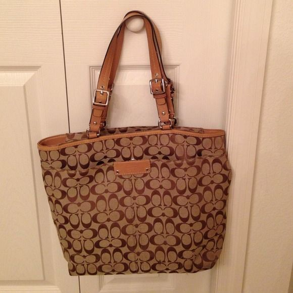 3758c56f7ce5 ... australia large coach tote bag price is firm extra large tote bag with  beige leather handles