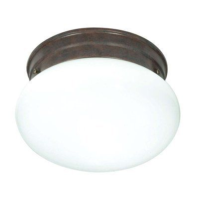 Nuvo Lighting Mushroom Glass Flush Mount Ceiling Light ...