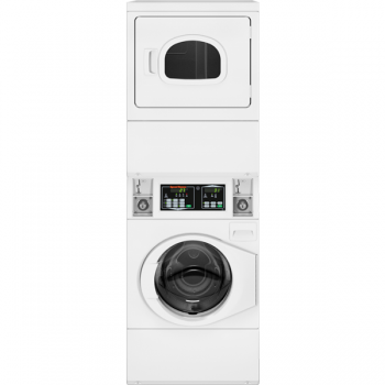 New Quantum Gold Coin Drop Stack Washer Dryer Gas White Speed