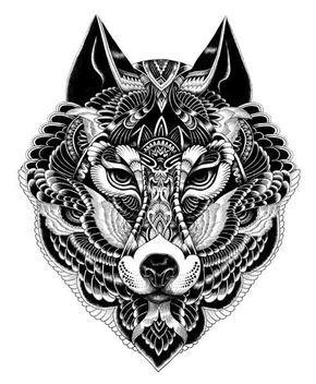 wolf drawing - Google Search | รอยสักวินเทจ, ลายสักรูป ...
