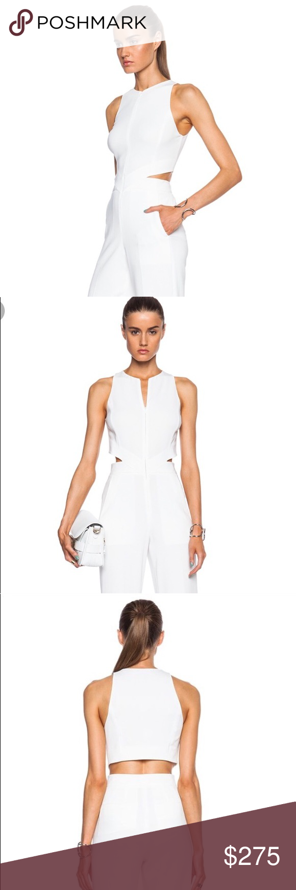 2f4c282648f A.l.c. Chandler white jumpsuit size 4 It is a beautiful jumpsuit with front  zip and a back cut out. Has pockets. A.L.C. Other