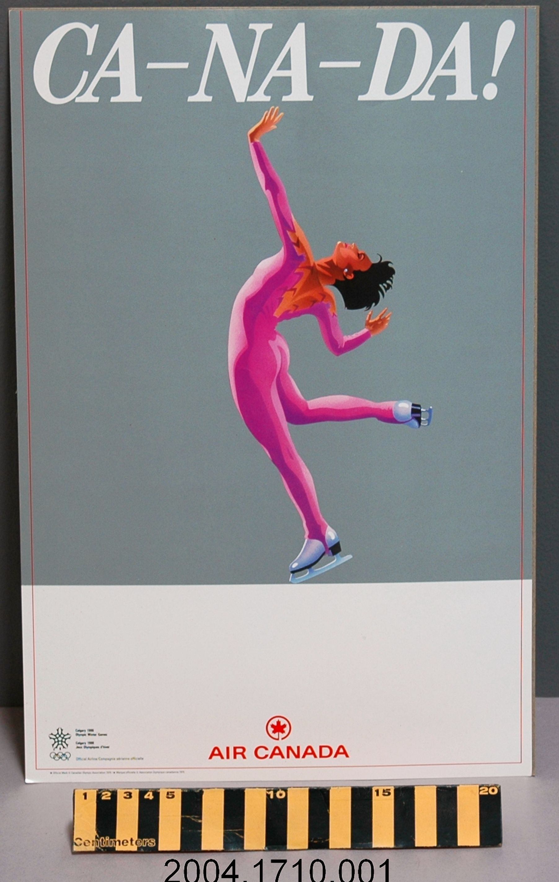 1988 Calgary Winter Olympics Promotional Poster Produced
