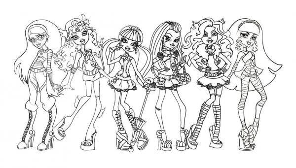 Disegni delle Monster High da colorare - 6 passi | body ...