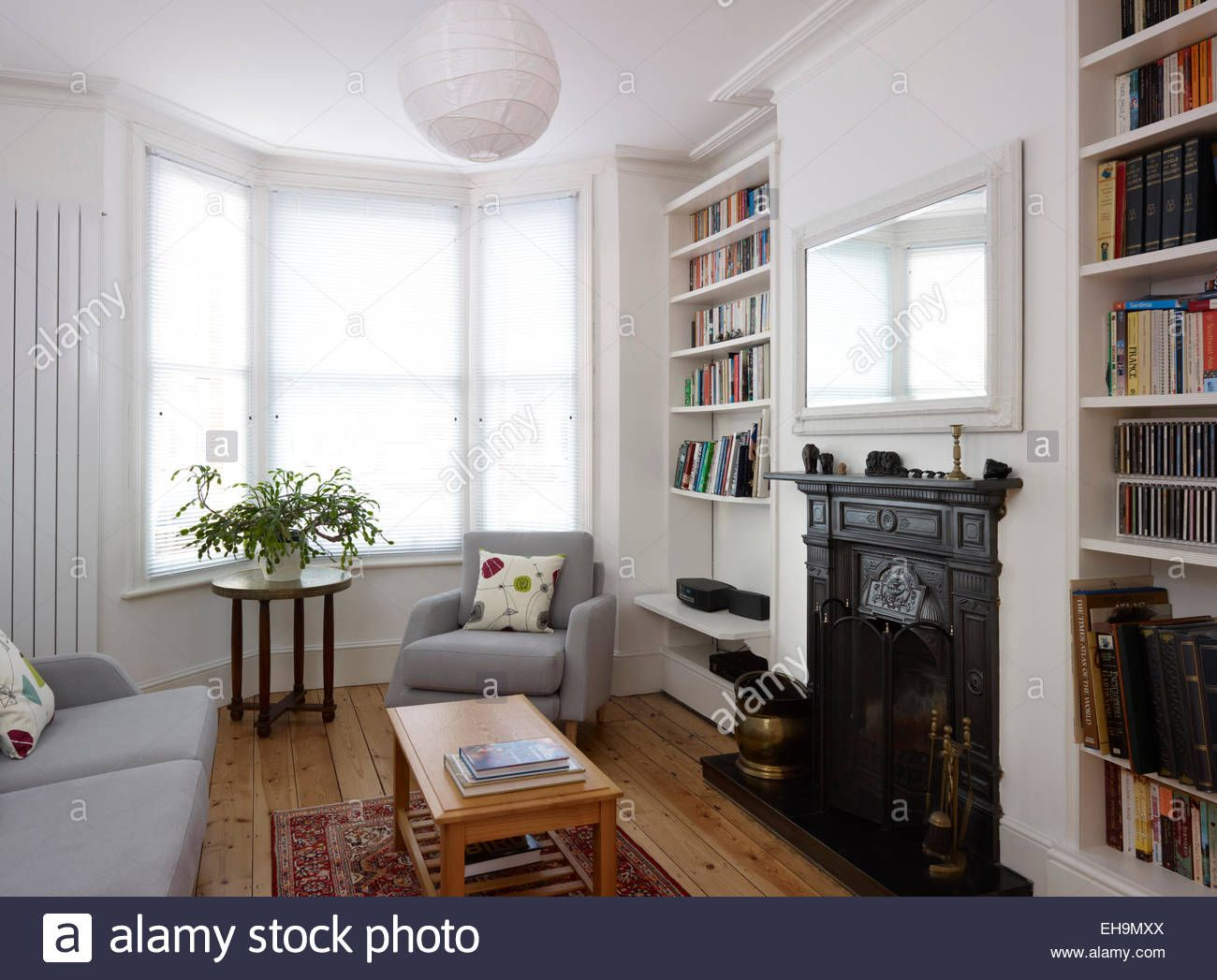 Image Result For Living Room With Bay Window And Fireplace