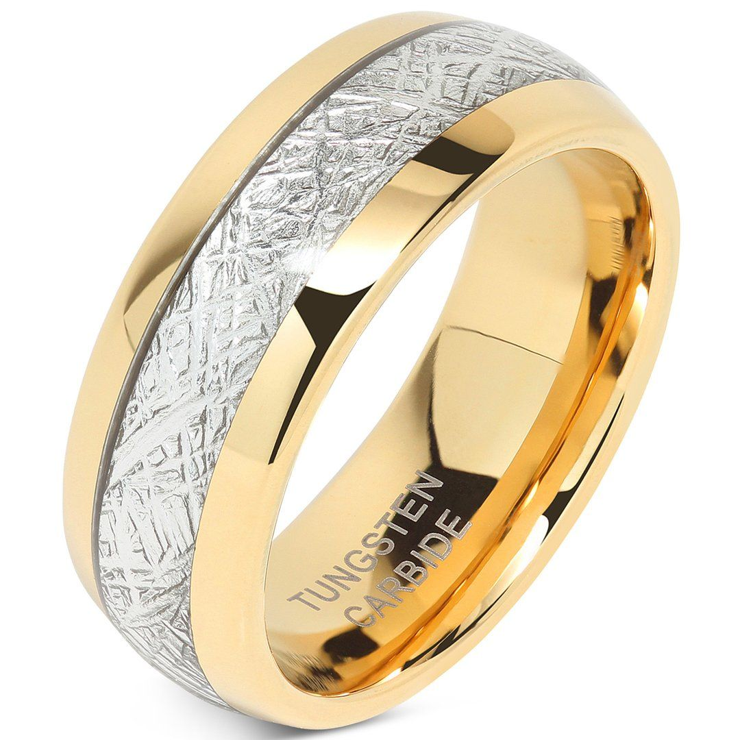 100S JEWELRY Mens Wedding Bands Tungsten Gold Rings