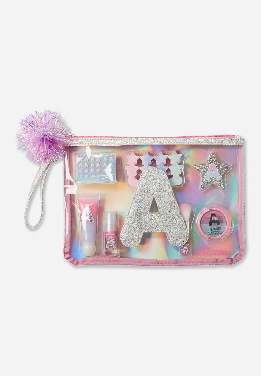 Glitter initial cosmetic kit justice in 2020 with