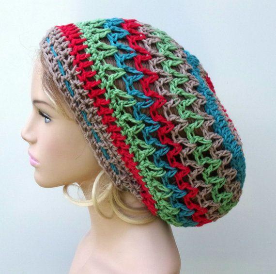 ebdf23b53 Summer Breeze slouchy beanie, Cotton Hemp Hippie Tam Hat Slouchy ...