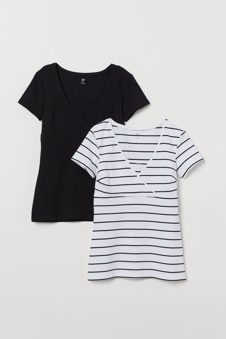 143c542bf04 H&M MAMA 2-pack Nursing Tops - White in 2019   Clothing & Shoes ...