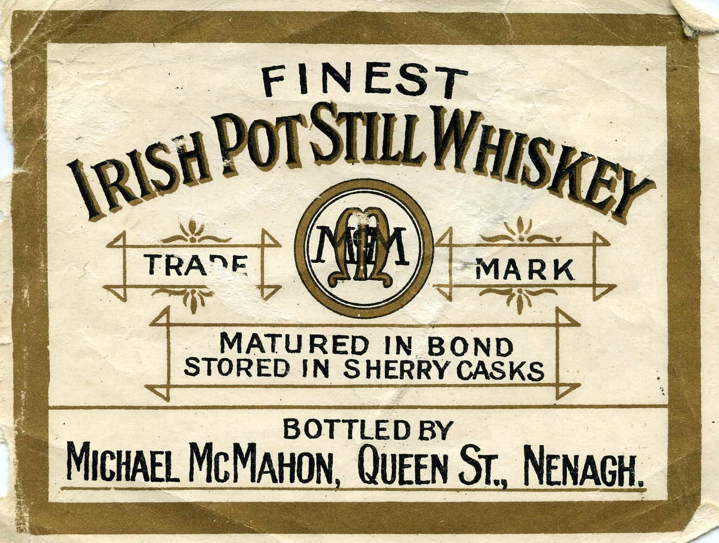 Vintage Scotch Whisky Label