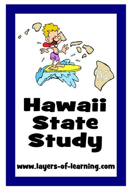 Hawaii state study and map to print geography pinterest use this hawaii state study guide to learn fun facts and color a map about the sciox Image collections