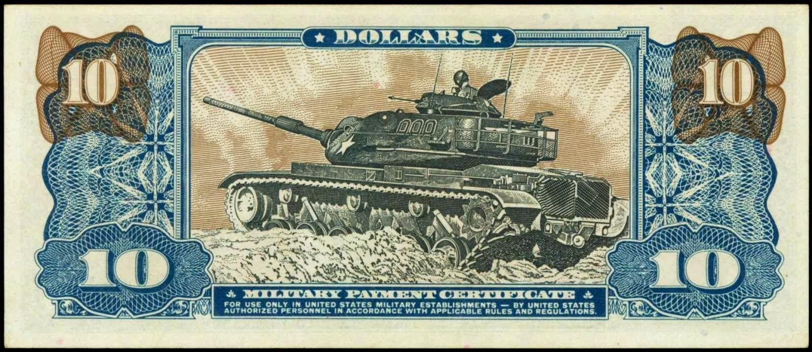 10 Dollars Military Payment Certificate Us Mpc Series 681 Vietnam