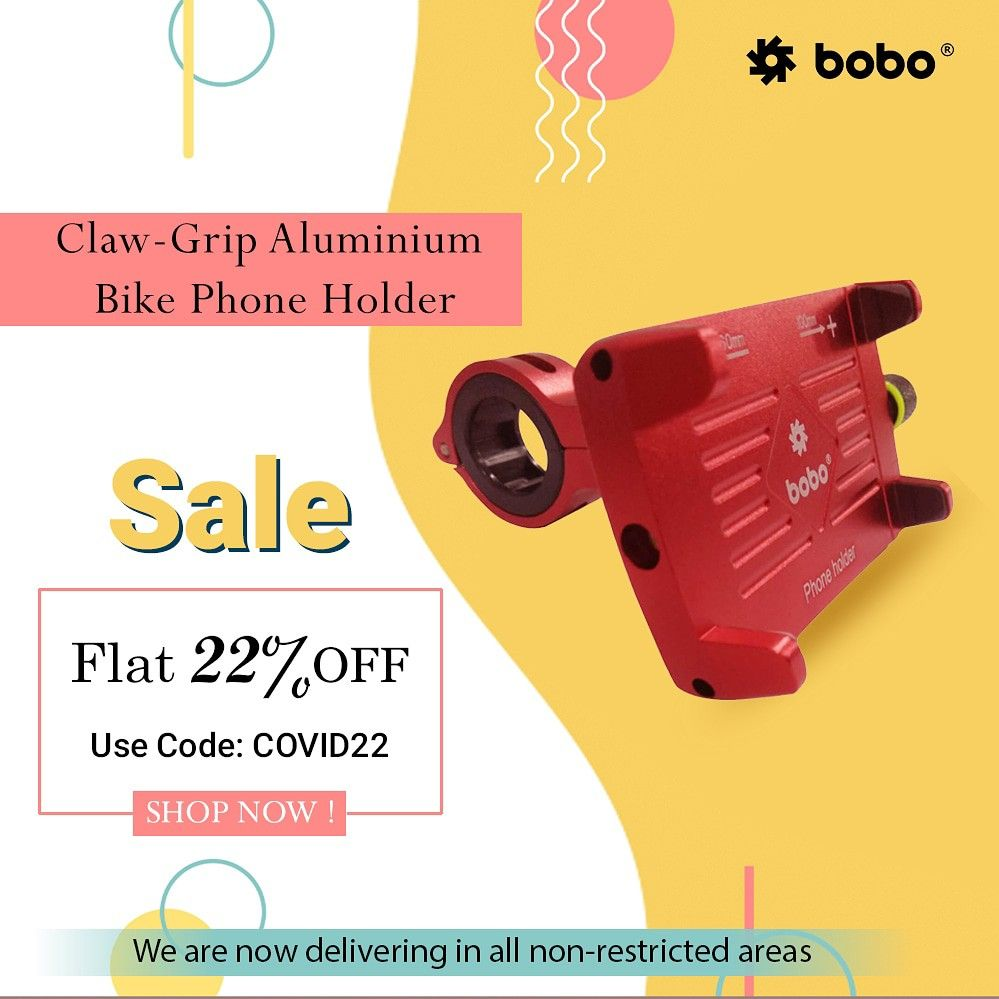BOBO Claw-Grip Aluminum Waterproof Bike Phone Holder. ➖➖➖➖➖➖➖➖➖➖➖➖ Key Features ✔️ Claw-Grip security. ✔️ Always connected. ✔️ Always Secured. ✔️ All tolls and spare parts included. ✔️ We provide 6 months warranty. ✔️ Ideal for Maps and GPS Navigation. ➖➖➖➖➖➖➖➖➖➖➖➖ . . . . . #bikes #bikers #bikerider #riders #superbikes #biking #bikingendut #bikelife #bike #bikecare #bikeaccessories #biker #bikersfamily #bikepacking #bikelovers #loveforbike #tech #biketech #gears #gears #superbikesinindia #super