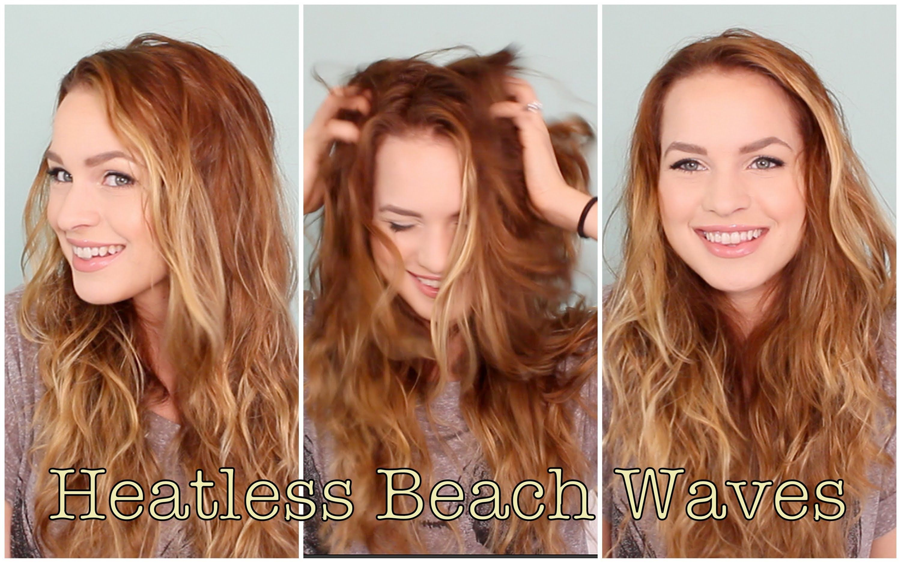Easy heatless beachy waves favorite hairstyle of the month