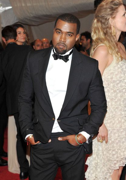 Kanye West in Tory Burch Custom Tuxedo