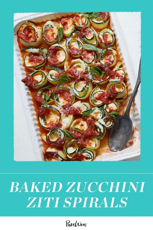 Baked Zucchini Ziti Spirals With Mozzarella Recipe In 2021 Bake Zucchini Recipes Food