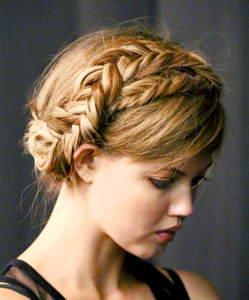 the most beautiful fishtail braid crown
