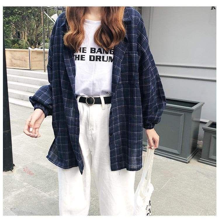Retro Plaid Shirt Plaid Shirt Outfits Aesthetic Clothes Fashion Inspo Outfits