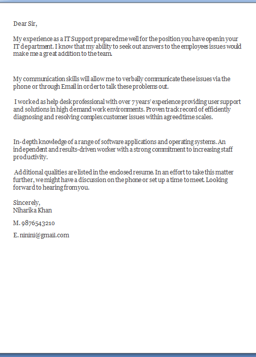 cover letter tips Sample Template Example of Excellent Job ...