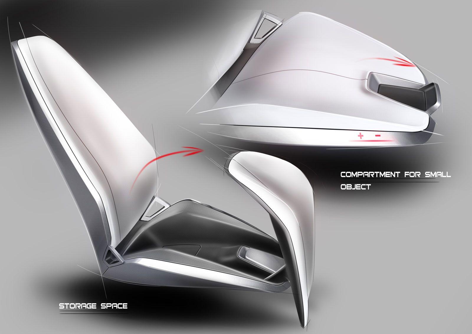 Spd Concept Car Interior Seat Design Sketches Car Design