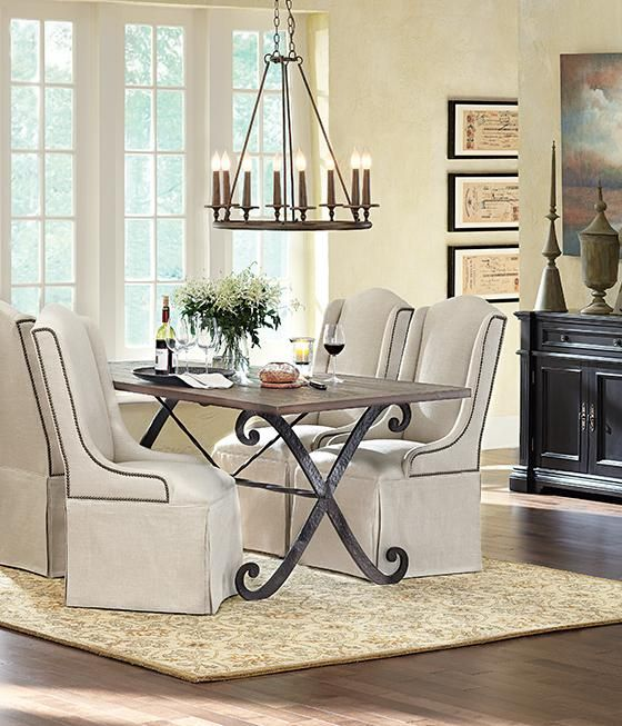 Lyon Dining Table  $579  Littlebrickcondo's Dining Room Endearing Cushioned Dining Room Chairs Decorating Inspiration