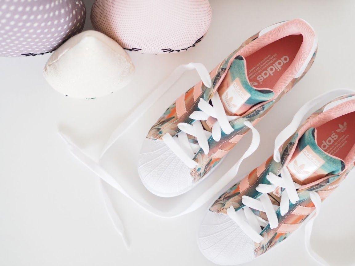adidas superstar fleur rose