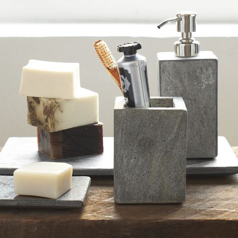 Slate Bath Accessories In ORGANIZE Me Pinterest Bath - Slate bathroom accessories
