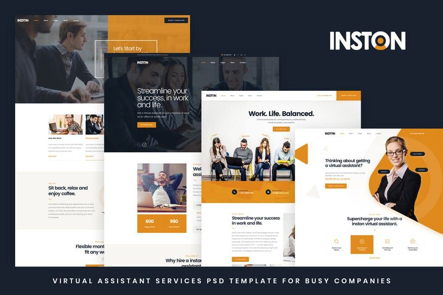Inston Is A Virtual And Personal Assistant Services Html Website Template For Busy Peo Virtual Assistant Services Virtual Assistant Personal Assistant Services