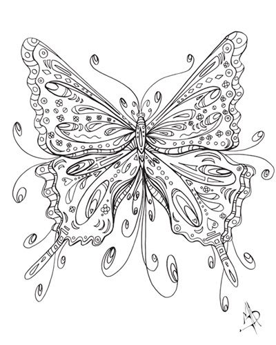 Beautiful Butterfly I Coloring Canvas Coloring Canvas Colorful Art Colouring Art Therapy