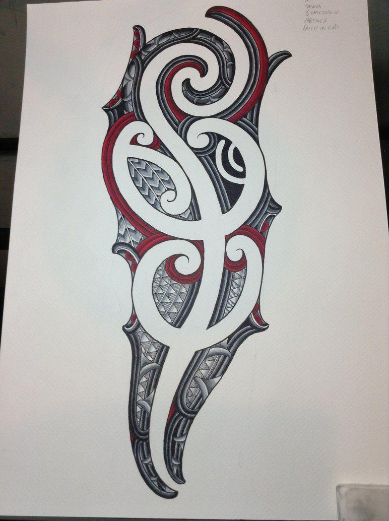 Ta Moko Sleeve Design By Jayme-Watene