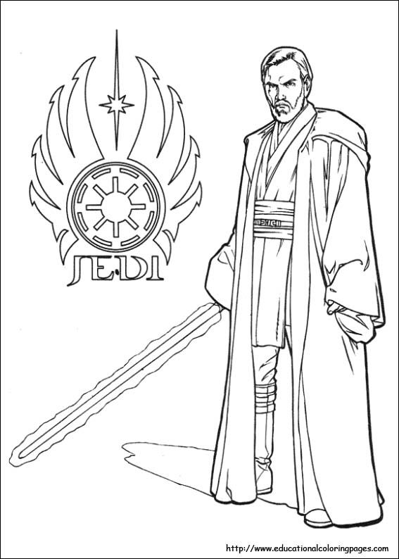 Obi Wan Kenobi Star Wars Printable Coloring Page