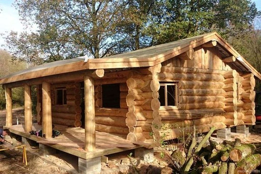 Best Small Log Cabin Ideas With Awesome Decoration 29 Small Log Cabin Small Log Homes Log Home Designs