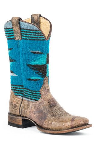 Stetson Boots Ladies Brown Leather Serape 11in Roxanne Fashion