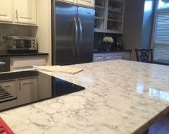Great Houzz Thread On Rococo Quartz Countertops With Lots Of Pics Of It Installed