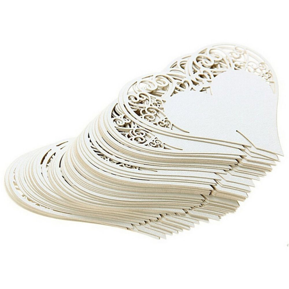 Aliexpress Decoration Maison 50 Pcs Ensemble De Mariage Décoration De Table Place Cartes Laser
