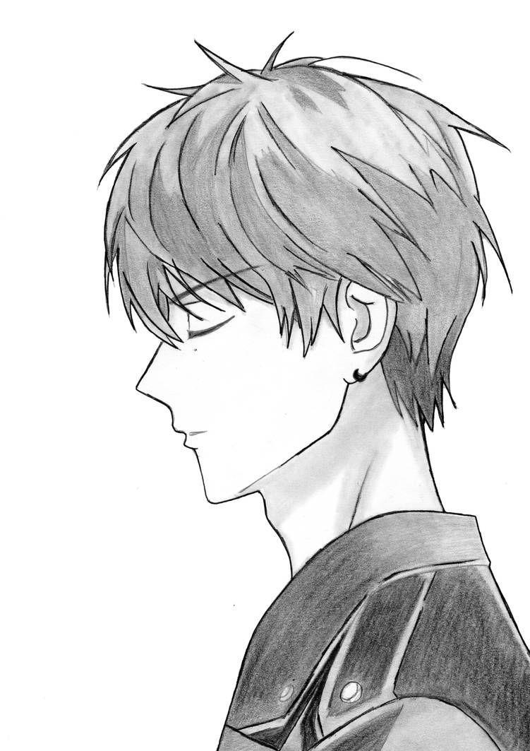 Drawing Side View Anime Boy Step By Step By Drawingtimewithme On Deviantart Anime Boy Deviantart Drawing Drawi Di 2020 Karya Seni Pensil Sketsa Gambar Pensil
