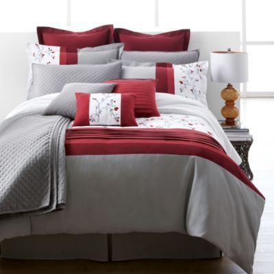 Lifestyle Linens Estrada 12 Piece Embroidered Duvet Cover Set Sears Sears Canada Bedding Sets Bed