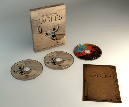 History of the Eagles   History of the Eagles History of the Eagles   • 3 Disc DVD in 5.1 Surround Sound and Stereo  • Packaged in a six-panel digipak with accompanying photo booklet.   • 4 hours of never before seen material from the past 40 years.  • Disc One: Part One explores the creation and rise to fame in the 1970's through their breakup in 1980.  • Disc Two: Part Two details the band's reunion in 1994 through the Hell Freezes Over tour to present day.  • Bonus Disc: Exclusive..