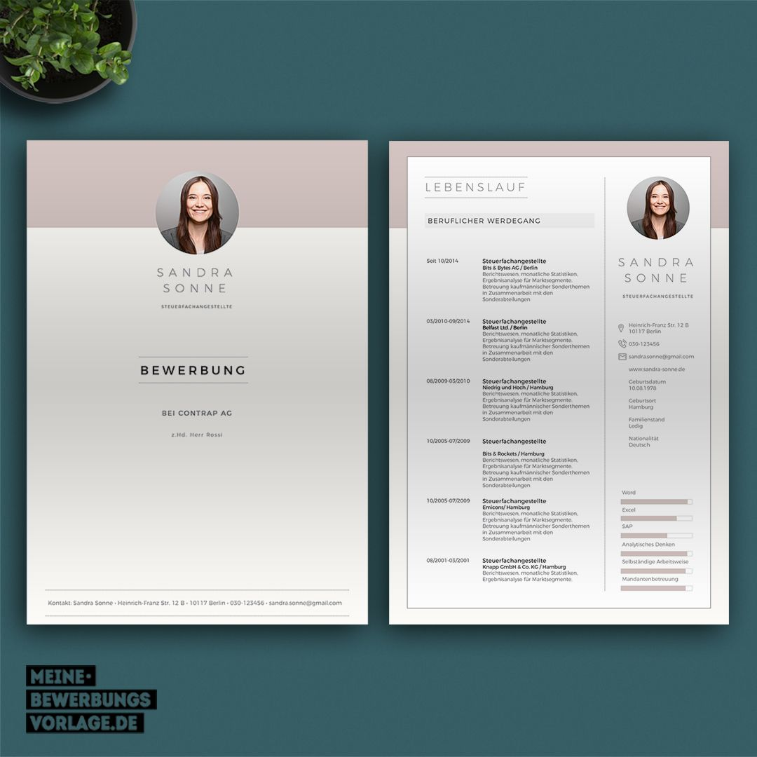 No 6 Lebenslauf Design Lebenslauf Deckblatt Bewerbung