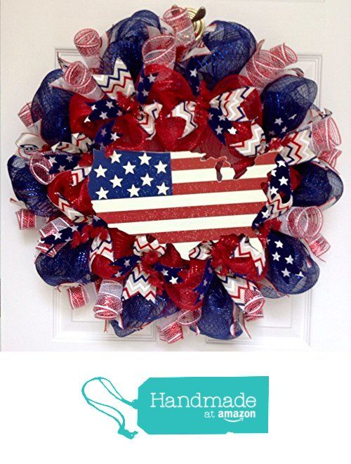This Land is Your Land Stars and Stripes Patriotic Handmade Deco Mesh Wreath from What A Mesh By Diana http://www.amazon.com/dp/B01FZJ7ZNA/ref=hnd_sw_r_pi_dp_iBiqxb03K253N #handmadeatamazon