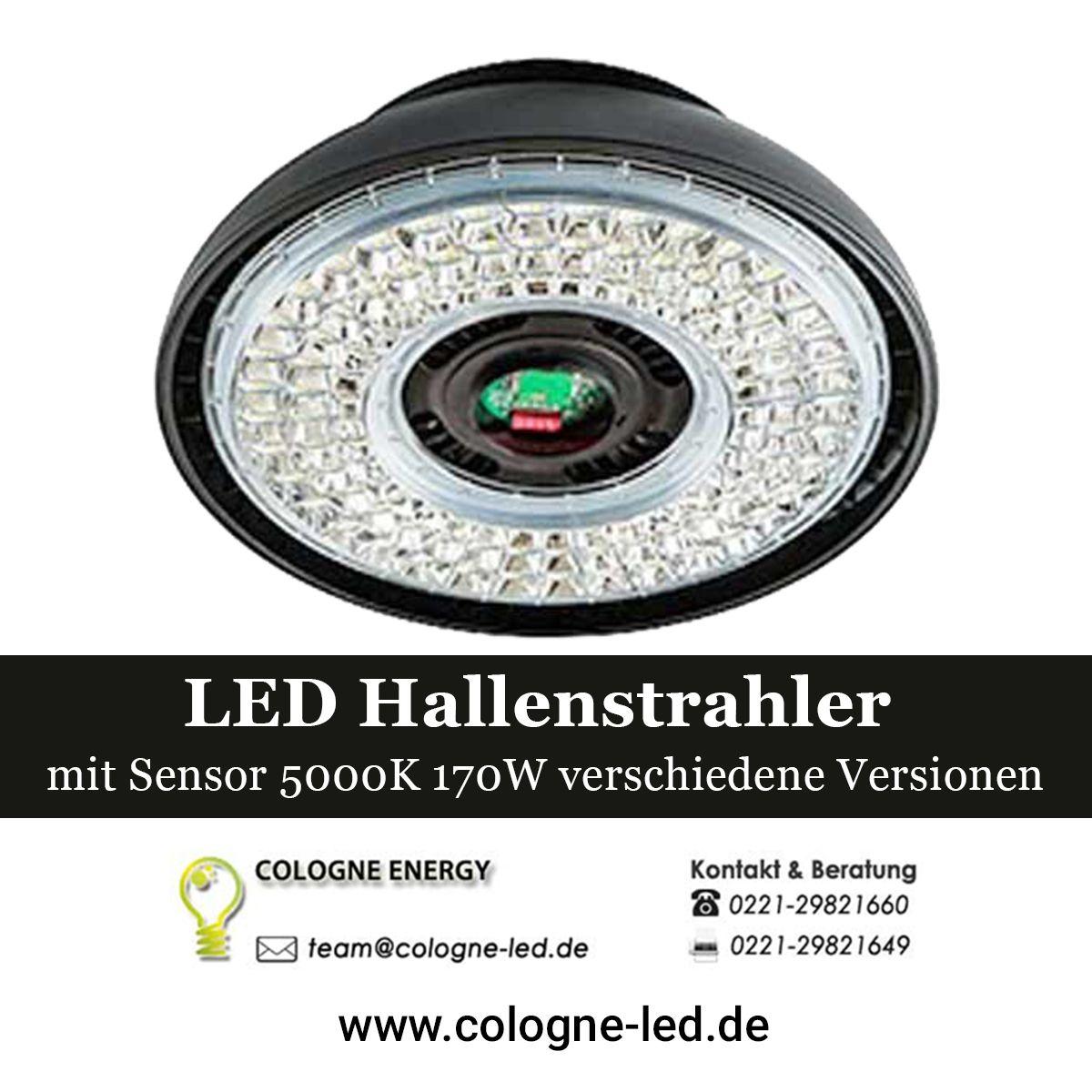 Led Hallenstrahler Mit Sensor 5000k 170w Verschiedene Versionen Led
