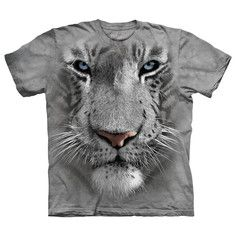 White Tiger Face Tee XXL, $18, now featured on Fab.