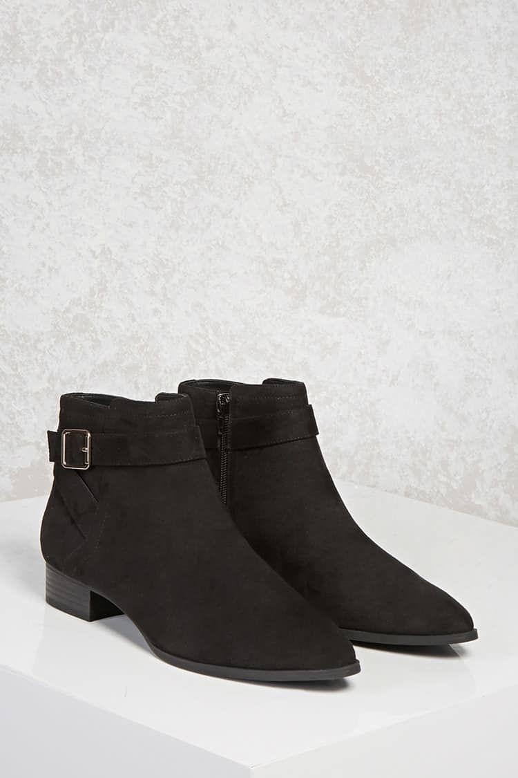 55898d6e6329c Botín De Antelina - Mujer - Zapatos - Botas + Botines - 2000123877 -  Forever 21 EU Español