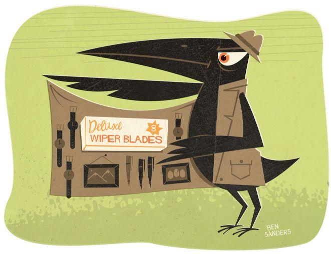 The Wiper-blade Bandit   Illustrator: Ben Sanders
