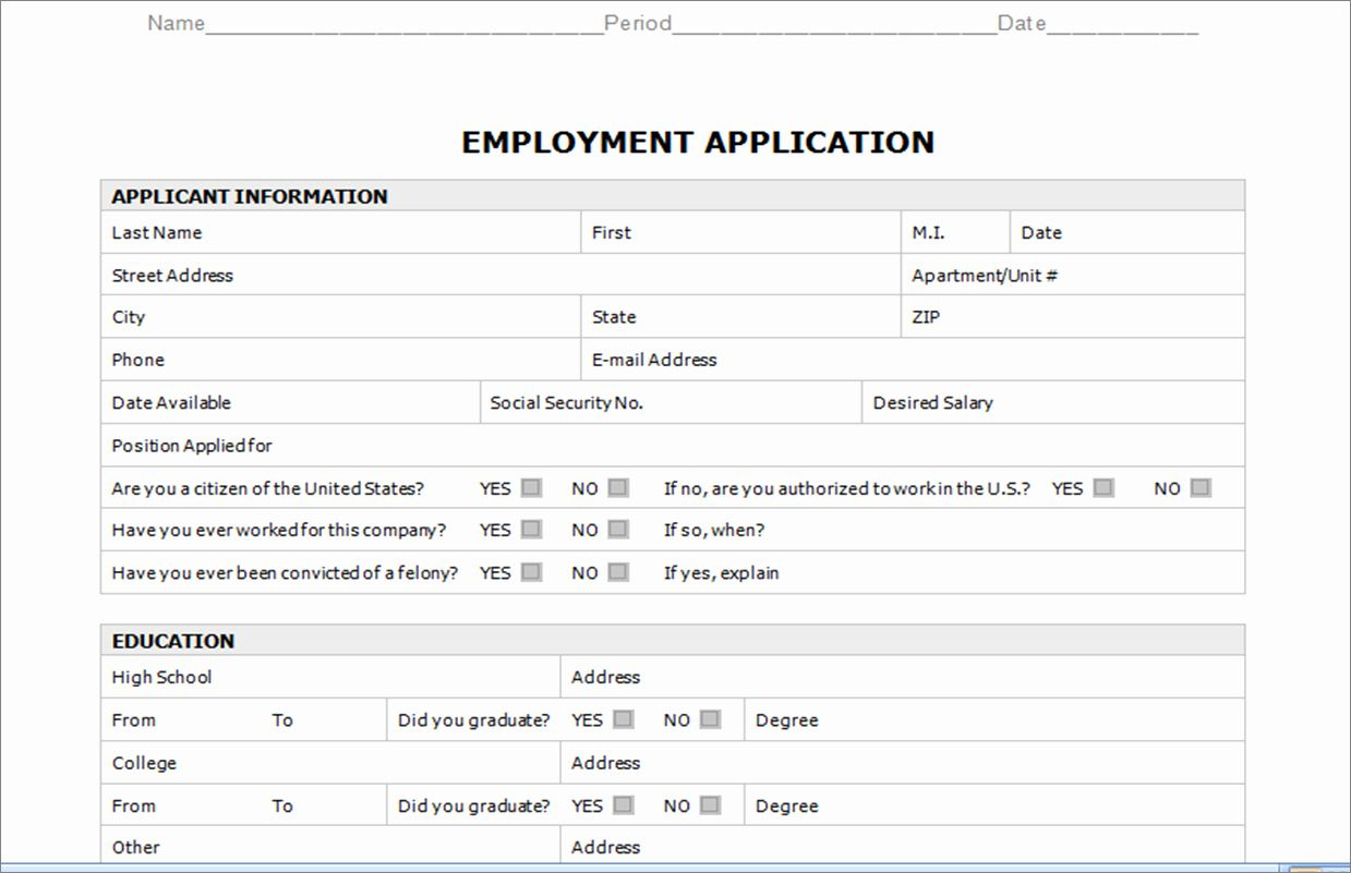 Word Application Templates Demire Agdiffusion Pertaining To Application For Employment Template Job Application Template Word Template Employment Application